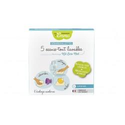 Recharge Kit Eco Net 5 Debarbouillettes multi-usages lavables bambou multicolore Les tendances d'Emma