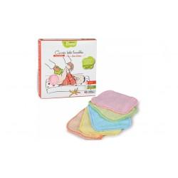 5 carrés bébé lavables en bambou couleur Les tendances d'Emma