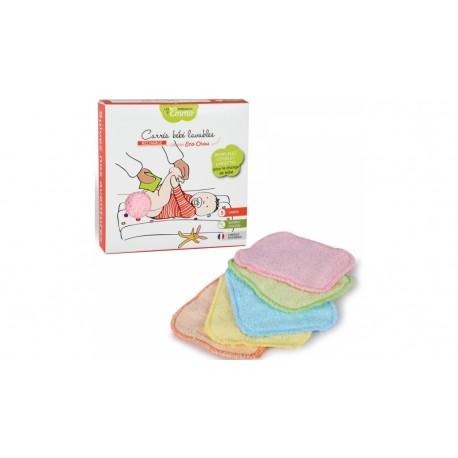 5 carrés bébé lavables en fibre d'eucalyptus Les tendances d'Emma