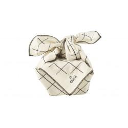 Furoshiki en coton bio imprimé carreaux 52x52cm Avril