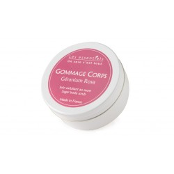 Gommage corps douce Géranium Rosa les essentiels 200ml