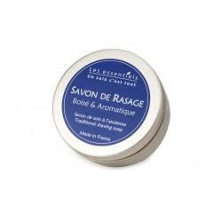 Savon de rasage à l\'ancienne cèdre et lavande fine les essentiels 200ml
