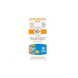 Crème protection solaire teintée claire bio très haute protection SPF 50+ Alphanova Sun 50g