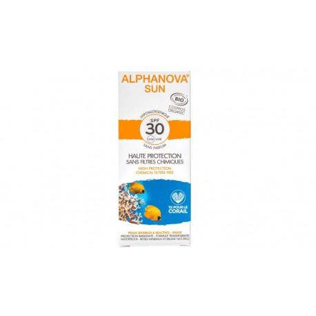 Crème protection solaire bio adulte très haute protection SPF 30 Alphanova Sun 50g