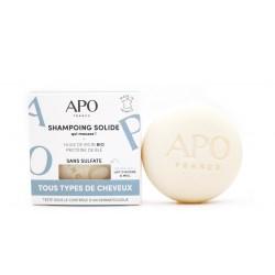 Shampoing solide APO qui mousse tous types de cheveux 75g