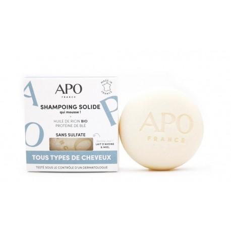 Shampoing solide qui mousse tous types de cheveux 75g