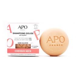 Shampoing solide APO qui mousse cheveux secs 75g