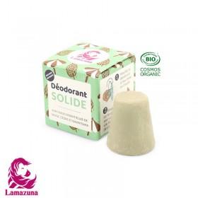 Déodorant solide Lamazuna huile essentielle de sauge, cèdre et ravintsara 30ml