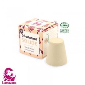 Déodorant solide Lamazuna peau sensible douceur florale 30ml