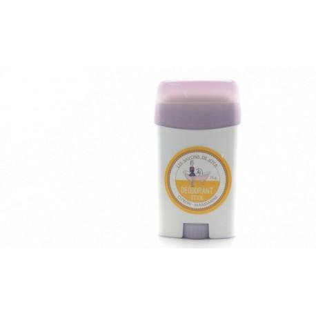 Déodorant en stick rechargeable Citron Mandarine Les savons de Joya 75g