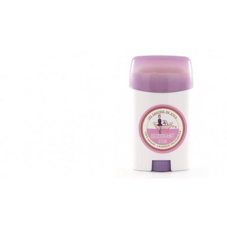 Déodorant en stick rechargeable Lavande et palmarosa Les savons de Joya 55g