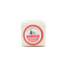 Déodorant en stick rechargeable sans bicarbonate de soude douceur à la rose Les savons de Joya 75g