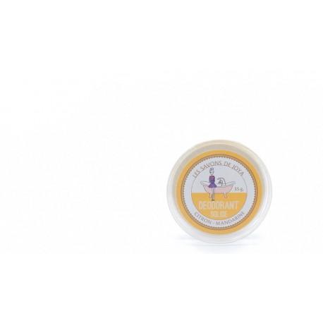 Déodorant solide Citron et Mandarine Les savons de Joya 35g