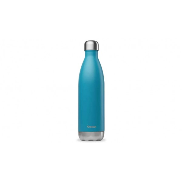 Bouteille isotherme chaud froid Originals Turquoise qwetch 750ml