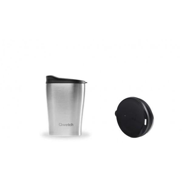 Mug isotherme chaud froid Originals qwetch Inox 240ml à fermeture non étanche