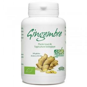 Gingembre Bio dosé à 250mg 200 gélules végétales Goh Diffusion
