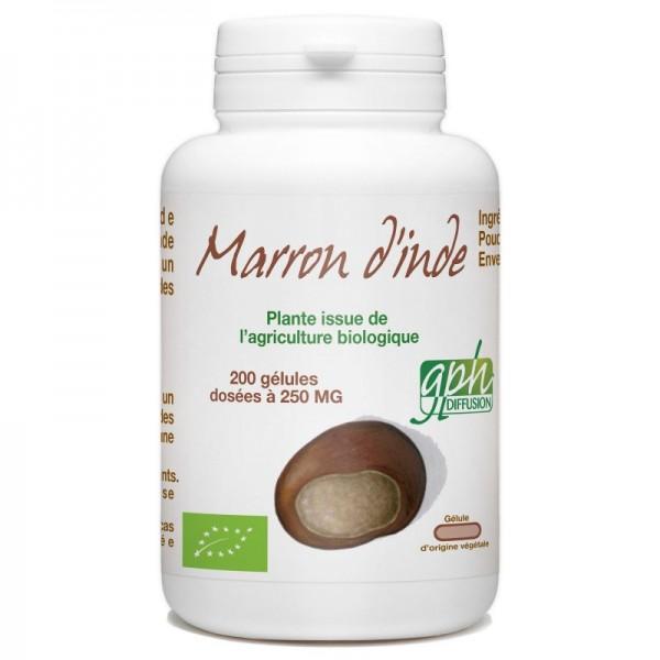 Marron d'Inde Bio dosé à 250mg 200 gélules végétales Gph Diffusion