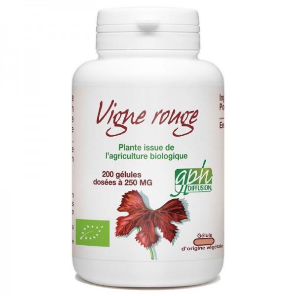 Vigne Rouge Bio dosé à 250mg 200 gélules végétales Gph Diffusion