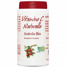 Vitamine C naturelle Acérola Bio 100 comprimés de 2,2g Gph Diffusion
