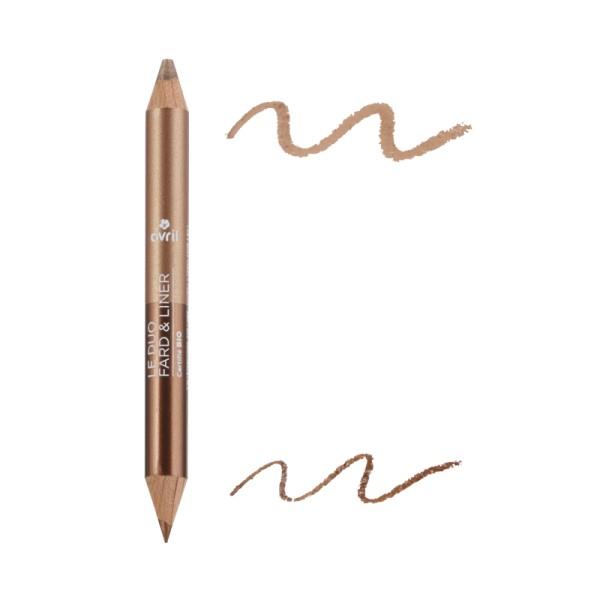 Duo fard & liner Bronze cuivré/ Beige doré bio Avril
