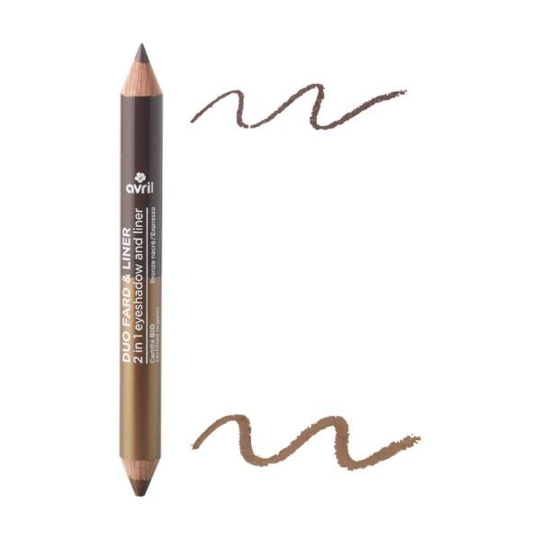 Duo fard & liner Bronze nacré/ Expresso bio Avril