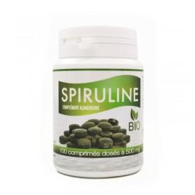 Spiruline bio 100 comprimés dosés à 500mg Gph Diffusion
