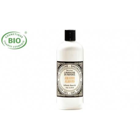Gel douche bio à l'huile d'amande douce 750ml  La manufacture en Provence
